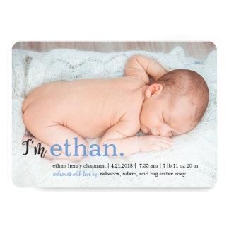 MY NAME Modern Birth Announcements