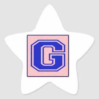My name starts with G Star Stickers