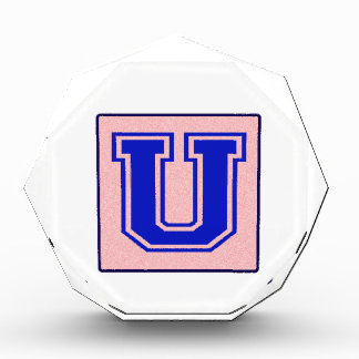 My name starts with U Acrylic Award