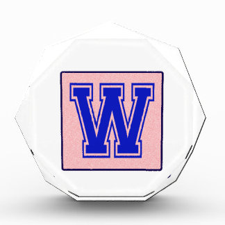 My name starts with W Acrylic Award