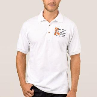 My Nana is a Strong Survivor Orange Ribbon Polo T-shirts