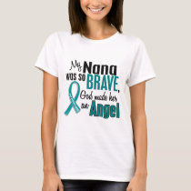 My Nana Is An Angel 1 Ovarian Cancer T-Shirt