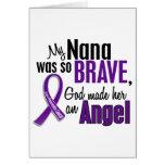 My Nana Is An Angel Pancreatic Cancer Greeting Card