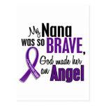 My Nana Is An Angel Pancreatic Cancer Postcard