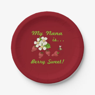 My Nana Is Berry Sweet Paper Plate