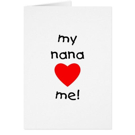 my nana loves me greeting cards