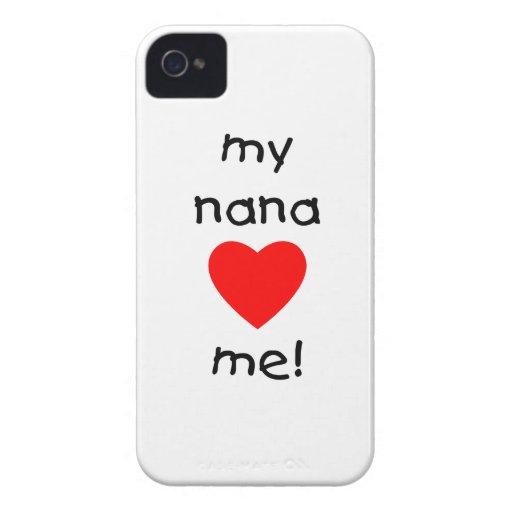 my nana loves me iPhone 4 Case-Mate case