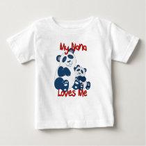 My Nana Loves Me Panda Baby T-Shirt