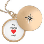 my nana loves me personalized necklace