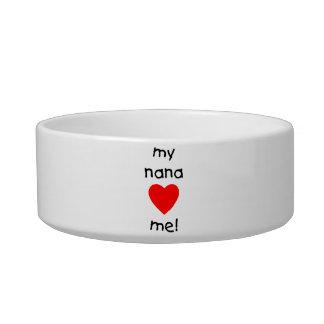 my nana loves me cat water bowl