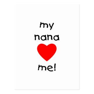 my nana loves me postcard