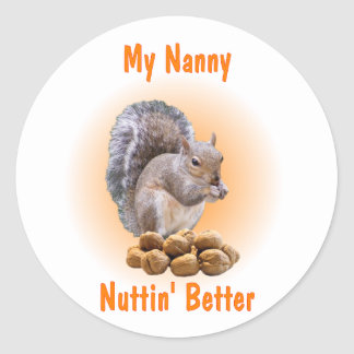 My Nanny Classic Round Sticker