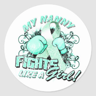 My Nanny Fights Like A Girl (T) Classic Round Sticker