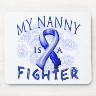 My Nanny Is A Fighter Blue Mouse Pad