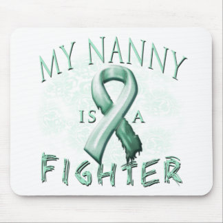 My Nanny is a Fighter Teal Mouse Pad