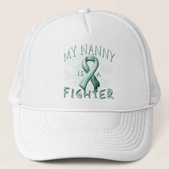 My Nanny is a Fighter Teal Trucker Hat