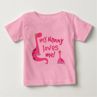 My Nanny Loves Me Dinosaur Baby T-Shirt