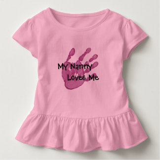 My Nanny Loves Me-Pink Toddler T-shirt