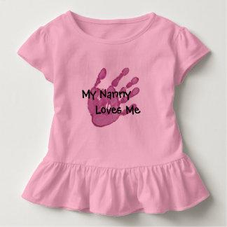 My Nanny Loves Me-Pink Toddler T-shirt