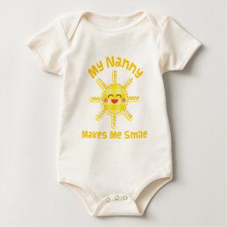 My Nanny Makes Me Laugh Baby Bodysuit