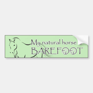 My Natural Horse is Barefoot with Large Horse Bumper Sticker