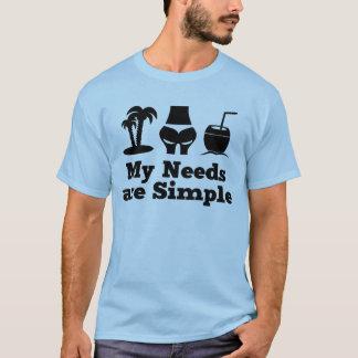 My Needs are Simple Holiday Cocktail Bikini T-Shirt