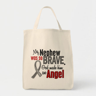 My Nephew Is An Angel 1 Brain Cancer Canvas Bags