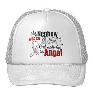My Nephew Is An Angel Lung Cancer Mesh Hat