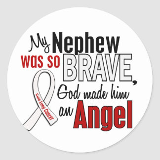 My Nephew Is An Angel Lung Cancer Round Stickers