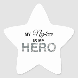 My Nephew is my Hero Digital Camouflage Star Sticker