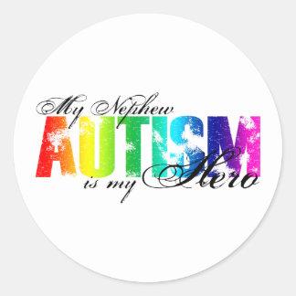 My Nephew My Hero  - Autism Classic Round Sticker