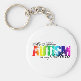 My Nephew My Hero  - Autism Basic Round Button Keychain