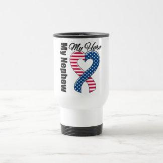 My Nephew My Hero Patriotic USA Ribbon Coffee Mugs
