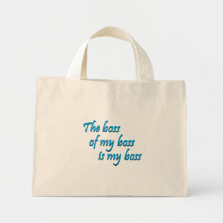 My new boss (sq) tote bag