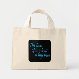 My new boss (sq) canvas bags