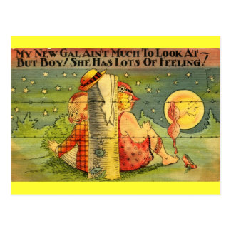 My New Gal Has Lots of Feeling! Comic Vintage Postcard