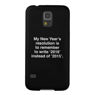 My New Year's Resolution Galaxy S5 Case