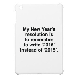 My New Year's Resolution iPad Mini Cover