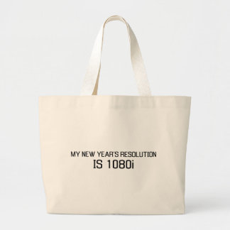 My New Year's Resolution is 1080i Large Tote Bag
