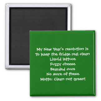 My New Year's resolution Magnet