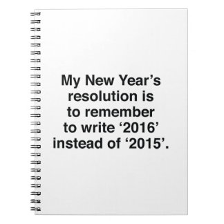 My New Year's Resolution Notebook
