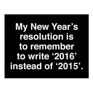 My New Year's Resolution Postcard