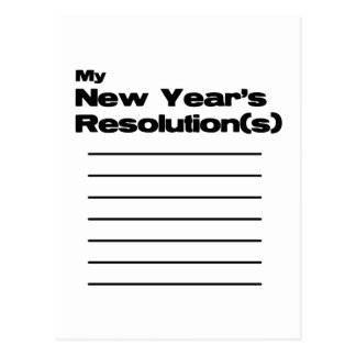 My New Year's Resolution(s) List Postcard