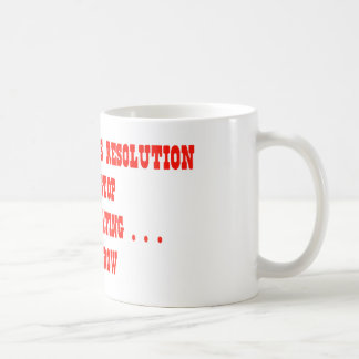 My New Year's Resolution Stop Procrastinating... Coffee Mug