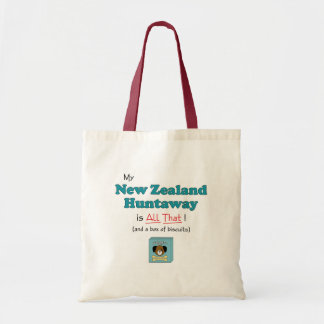 My New Zealand Huntaway is All That! Tote Bags