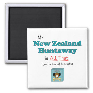 My New Zealand Huntaway is All That! Fridge Magnets