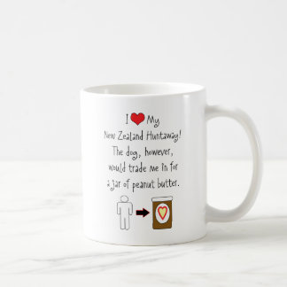 My New Zealand Huntaway Loves Peanut Butter Classic White Coffee Mug
