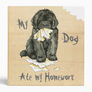 My Newfoundland Ate My Homework 3 Ring Binder