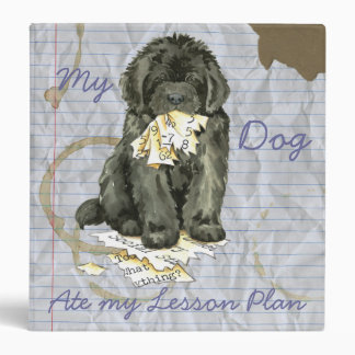 My Newfoundland Ate My Lesson Plan 3 Ring Binder