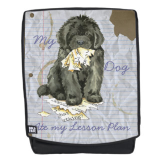 My Newfoundland Ate my Lesson Plan Backpack